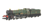 2S-010-006D Hall 5999 Woolerton Hall BR Late Lined Green (DCC-Fitted)